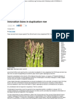Innovation Boss in Duplication Row- The 19 Apr 2012 Updated to 8 May