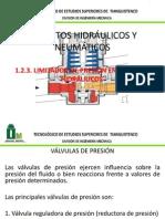 LIMITADOR DE PRESIÓN EN SISTEMAS HIDRÁULICOS