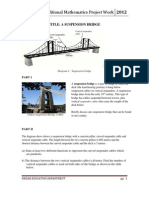 Additional Mathematics Project Work 2012 (A SUSPENSION BRIDGE)