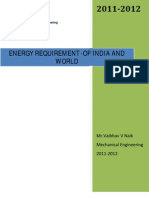 Energy Requirement-Of India and World