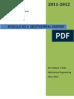 Module No 4 Geothermal Energy