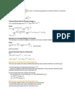Derivative of Polinomials