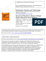 Numerical Parametric Study of Diesel Engine Operation With Gasoline