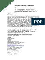 SOCIAL FORECASTING - Relevence in Strategic Planning