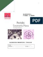 Matemática - Elementos Primitivos e Ã'ngulos