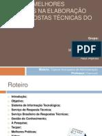 Apresentação_Melhores Práticas na Elaboração de Respostas Técnicas de SBRT rev01