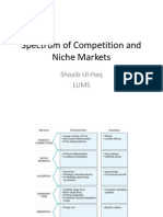 Spectrum of Competition and Niche Markets