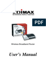 Edimax Manual