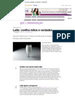 Leite_ confira mitos e verdades - Alimentação - Saúde GNT