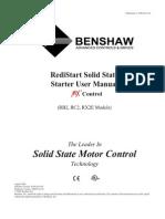 Benshaw Softstart RX2 Manual
