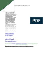 Digital Smell Full Seminar Report Download