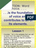 DICTION Voice Lesson PPT