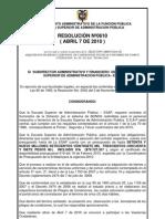 Resolucion 0610 Del 2010