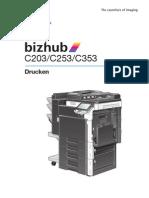 Bizhub c203 c253 c353 Print Operations 2-1-1 De