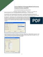 FEM ANSYS Composites Guide
