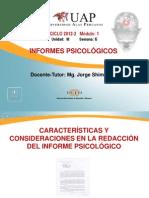 Características y consideraciones en la redacción del Informe