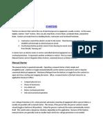 Starters - General Information
