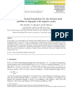 A Strong Flow-based Formulation for the Shortest Path Problem in Diagraphs With Negative Cycles