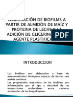 ELABORACIÓN DE BIOFILMS A PARTIR DE ALMIDÓN DE