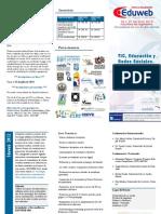 Eduweb 2012 - Tríptico informativo