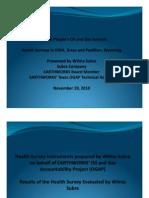 Health Survey in Dish Texas - Presentation by Wilma Subra - November 19 2010.