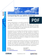 Conquering the sys-admin challenge