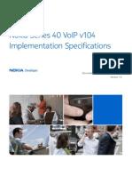 Series 40 VoIP v104 Implementation Specifications v1 0 En