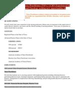 FNP CCRN ICU Post Medical Resume Physician CV
