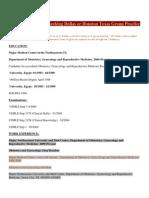 Resume CV OBGYN Seeking Dallas or Houston Texas Group Practice US Citizen Post Medical Resume Physician CV