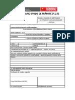FORMULARIO ÚNICO DE TRÁMITE