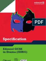 Edexcel GCSE 2009 Drama - Spec
