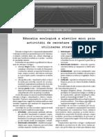 Educatia Ecologica a Elevilor Mici Prin Activitati de Cercetare a Mediului Cu Utilizarea Strategiilor LSDGC