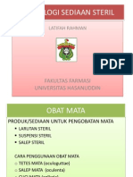 Ibu Latifah-teknologi Sediaan Steril (2) Power Point