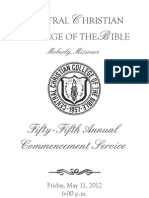 2012 CCCB Commencement Program
