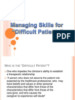 Managing Difficult Patient