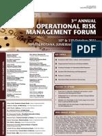 Third International Operational Risk Management Forum Dubai