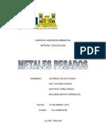 Metales Pesados - Toxicología PDF