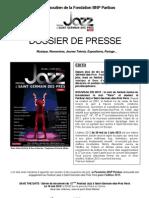 Dossier de Presse Festival Jazz a Saint-Germain-des-Prés 2012