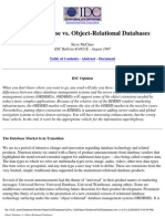 Object Database Vs_ Object-Relational Databases