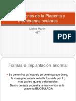 Alteraciones de La Placenta y Membranas Ovulares