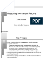 Measuring Investment Returns