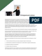 Entreprenural Culture