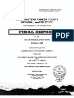 Southeastern Parker County Regional Water Study - TWDB Report No 98-483-246 - April 29 1999.
