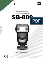Manual de Utilizare Nikon SB-800