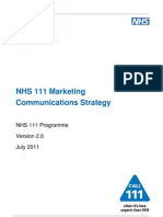NHS 111 Marketing Communications Strategy v2.0