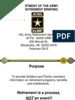 US ARMY Pre Retirement Briefing Feb2012