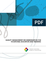 47655 Quality Management Recommendation for Vocatinal Education and Training