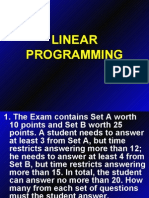 Linear Programming Review