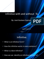 Infinitive With and Without to Gustavo Espinoza