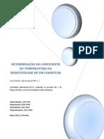 A.L 2.3 - Determinação Coeficiente Temperatura Resistividade Condutor